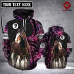 Personalized Clydesdale horse 3D printed hoodie PQK