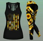Combo Sunflower Tank Top & Legging Outfit LMT