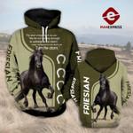 Friesian Horse 3D printed hoodie PDL1