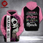 March Girl 3d Printed HOODIE T7O