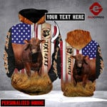 CUSTOMIZE RED ANGUS FLAG LMT 3D PRINT HOODIE HVQ3101