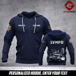 Soldier LVMPD personalized 3d Printed HOODIE TT