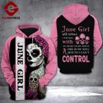 June Girl 3D printed hoodie CQL