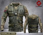 PERSONALIZED UK ARMY 3D PRINT HOODIE LMT