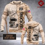 Trucker half camo Personalized 3D printed hoodie AWP