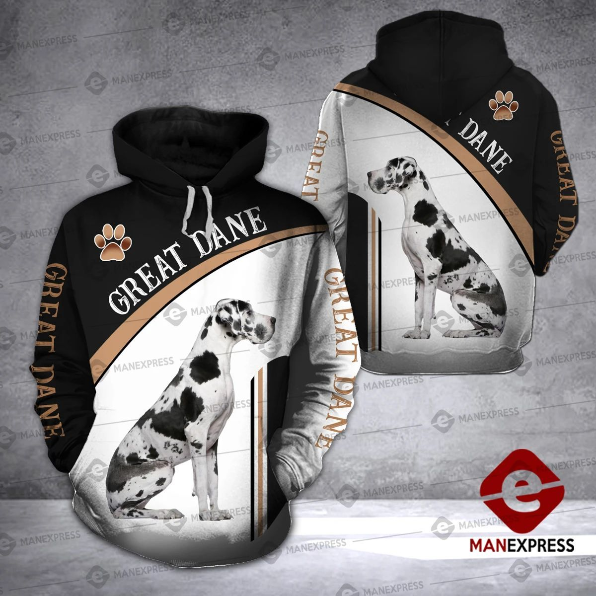 DH LOVE GREAT DANE HOODIE ALL OVER PRINT 3101