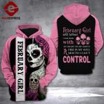 February Girl 3D printed hoodie CQL