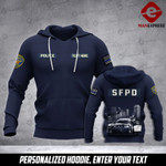 Soldier San Francisco PD personalized 3d Printed HOODIE TT