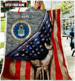 CUSTOMIZED US AIR FORCE QUILT PLANKET