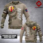 LKH Camo Army Puerto rico Personalized 3d Printed HOODIE