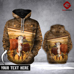 CUSTOMIZE HEREFORD CAMOUFLAGE 3D HOODIE HVQ0502
