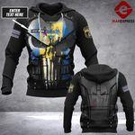 Customized Philadelphia Sheepdog LMT punisher armor 3D hoodie