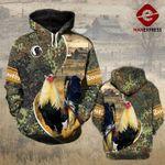 Rooster 3D printed hoodie JAN