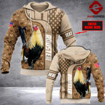 CUSTOMIZE ROOSTER LMT 3D PRINT HOODIE NV1702
