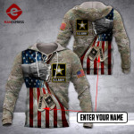CUSTOMIZED US ARMY HOODIE 3D 1802 DH