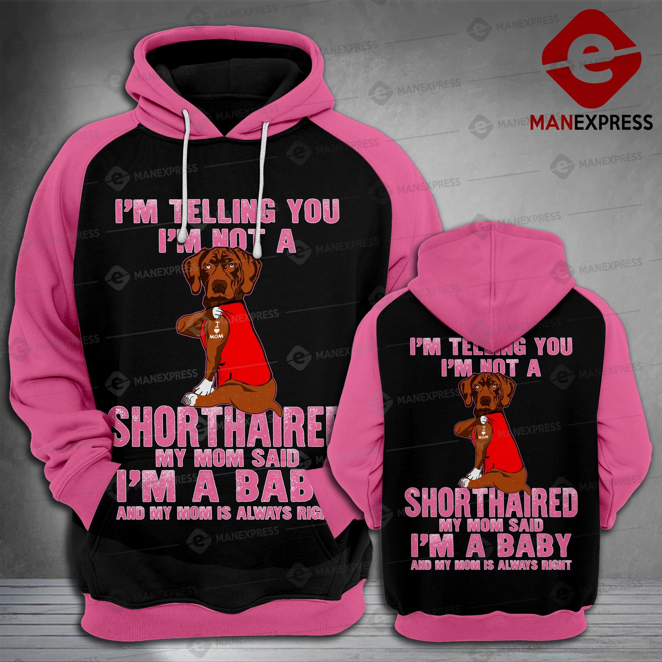 SHORTHAIRED POINTER LMT 3D HOODIE HVQ1302