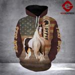 LDM FLAG GYPSY HORSE HOODIE 3D PRINTED