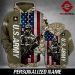 Warrior Flag US ARMY 3D hoodie LMT