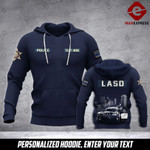 Soldier Los-Angeles County Sheriff's Department personalized 3d Printed HOODIE TT