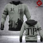 Logger Just The Tip 3D printed hoodie ZHJ C