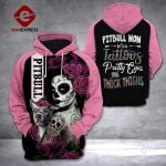 PITBULL MOM WITH TATTOOS 3D HOODIE LMT