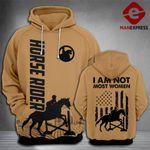 Horse Rider 3D printed hoodie WHJ