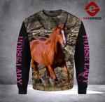 LDM AMERICAN QUARTER HORSE SWEATSHIRT PRINTED CAMO