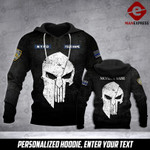 Personalized NYPD Sheepdog 3D printed hoodie QZL