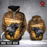 CUSTOMIZE ANGUS CATTLE CAMOUFLAGE 3D HOODIE HVQ0502