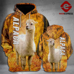 LKH Alpaca 3D printed hoodie