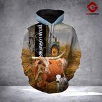 Texas Longhorn cattle 3D printed hoodie FGK