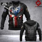 Customized Puerto Rico Sheepdog LMT punisher armor 3D hoodie
