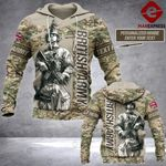UK Camo Army Personalized 3d Printed HOODIE TT