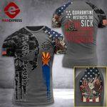 Arizona 3% Patriot  Tshirt 3d - All Over Print ARD308