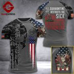 United State 3% Patriot  Tshirt 3d - All Over Print ARD308