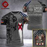 Alabama 3% Patriot  Tshirt 3d - All Over Print ARQ308