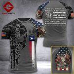 Texas 3% Patriot  Tshirt 3d - All Over Print ARQ308