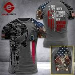 North Carolina 3% Patriot When Tyranny Becomes Law Rebellion Becomes Duty Tshirt 3d - All Over Print ART308