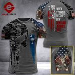 South Carolina 3% Patriot When Tyranny Becomes Law Rebellion Becomes Duty Tshirt 3d - All Over Print ART308
