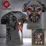 Florida 3% Patriot One Nation Under God Tshirt 3d - All Over Print ARA408