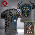 Louisiana 3% Patriot One Nation Under God Tshirt 3d - All Over Print ARA408