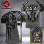Massachusetts 3% Patriot One Nation Under God Tshirt 3d - All Over Print ARA408