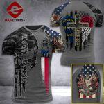 North Carolina 3% Patriot One Nation Under God Tshirt 3d - All Over Print ARA408