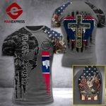 Wyoming 3% Patriot One Nation Under God Tshirt 3d - All Over Print ARA408