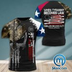 Texas 3% Patriot When Tyranny Becomes Law Rebellion Becomes Duty  Tshirt 3d - All Over Print ARA408