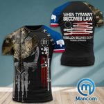 Wyoming 3% Patriot When Tyranny Becomes Law Rebellion Becomes Duty  Tshirt 3d - All Over Print ARA408