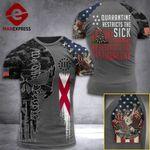 Alabama 3% Patriot  Tshirt 3d - All Over Print ARD408