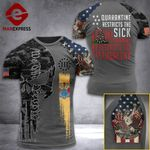 New Jersey 3% Patriot  Tshirt 3d - All Over Print ARD408
