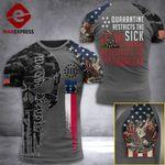 North Carolina 3% Patriot  Tshirt 3d - All Over Print ARD408