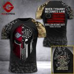 Arkansas 3% Patriot When Tyranny Becomes Law Rebellion Becomes Duty Tshirt 3d - All Over Print ARD408